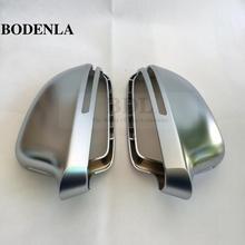BODENLA Matt Chrome Tráng Gương Chiếu Hậu Mặt Gương Nắp Dòng Ngõ Thay Đổi Cho Xe Audi A4 B8 A5 8T a6 C6 Q3 A3 8P
