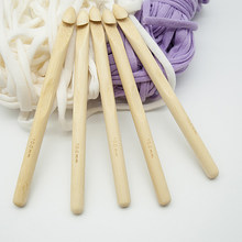 2pcs Diy Knitting Tool Wood Knitted Sweater Scarf Tapestry Spool Stick Single Head Solid Wood Large Thick Crochet(China)