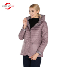 Padded Jacket Spring Woman Hooded Thin Autumn MODERN Cotton NEW SAGA
