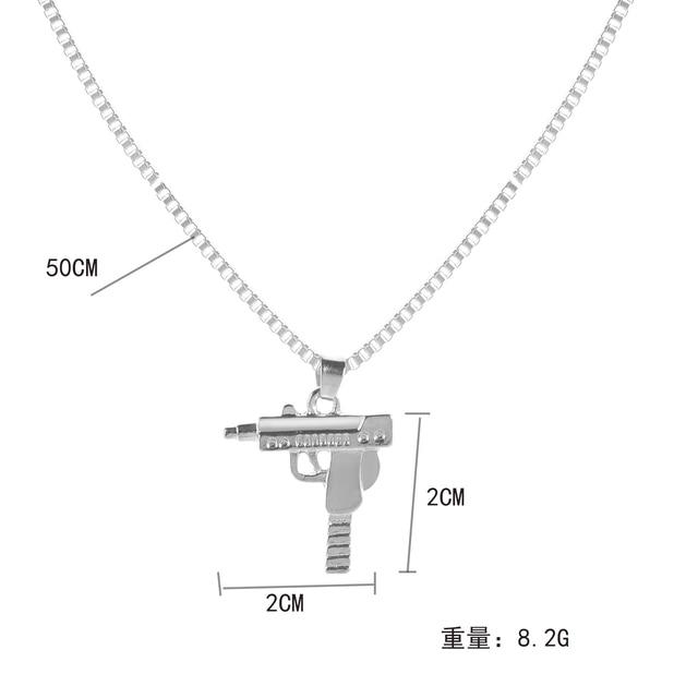 Sexy fashion Box chain Necklace  Alloy machine gun pendant necklace Gift