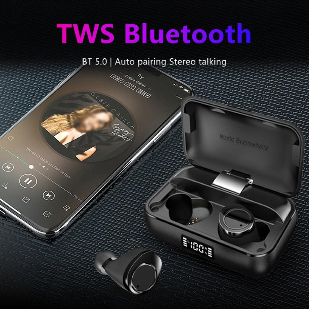 X13 Digital Display TWS <font><b>Bluetooth</b></font> 5,0 Sport Ohrhörer Kopfhörer Stereo <font><b>Headset</b></font> image