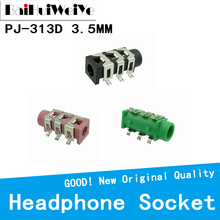 Female 20pcs/Lot 6pin Audio-Connector Headphone-Jack SMD SMT Stereo PJ-313D Black And