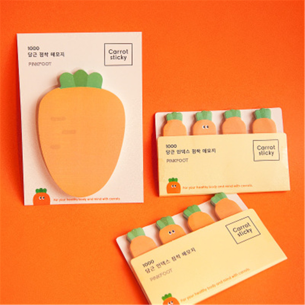 50/80 Sheets Kawaii Carrot Memo Pads Cute  Creative Sticky Notes Pads For Kids Gifts School Office Supplies Novelty Stationery