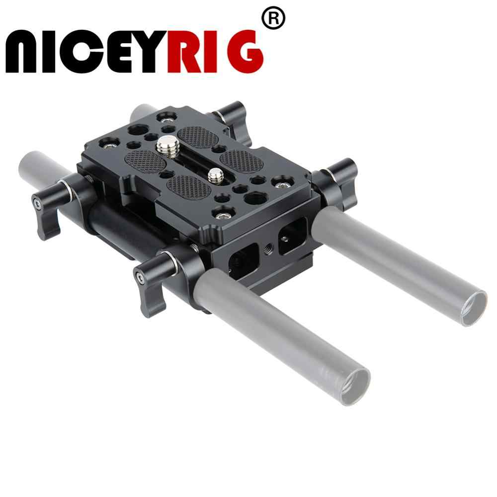 "Niceyrig Dslr Camera Bodemplaat 15 Mm Aluminium Plaat Diy Kaas Plaat Kit Schouder Rig 15 Mm Rod Rail Dslr grondplaat 1/4 ""3/8"""