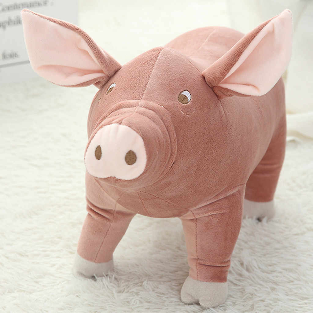 25cm de felpa de juguete de cerdo de dibujos animados acompañan chico niño bebé dormir Animal de peluche juguetes suaves para bebés para mujeres niños regalos de cumpleaños