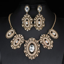 jiayijiaduo Fashion women Wedding Bridal Accessories Party gold-color Jewelry African Beads Costume Jewelry Sets(China)
