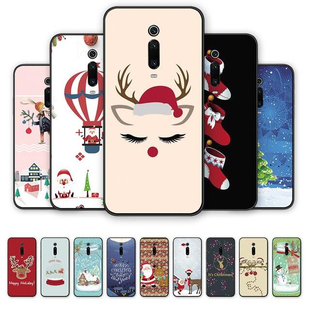 Redmi Note 7 S2 Merry Christmas Tree Bear Phone cases for Xiaomi Redmi 6A 5A 4A 4 5 6 7 Pro 5Plus GO Santa Claus soft tpu cover 5