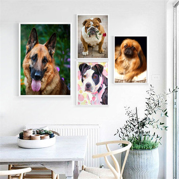 HUACAN Diamond Painting Full Square Dog 5D Diy Diamond Embroidery Picture Mosaic Rhinestone Handmade Gift