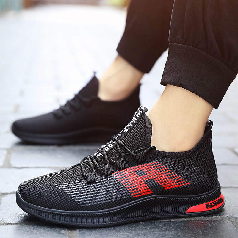 Breathable Men Sneakers Male Shoes Adult Black High Quality Comfortable Soft Mesh Men Shoes Summer Outdoor Walking Footwear in Men 39 s Casual Shoes from Shoes