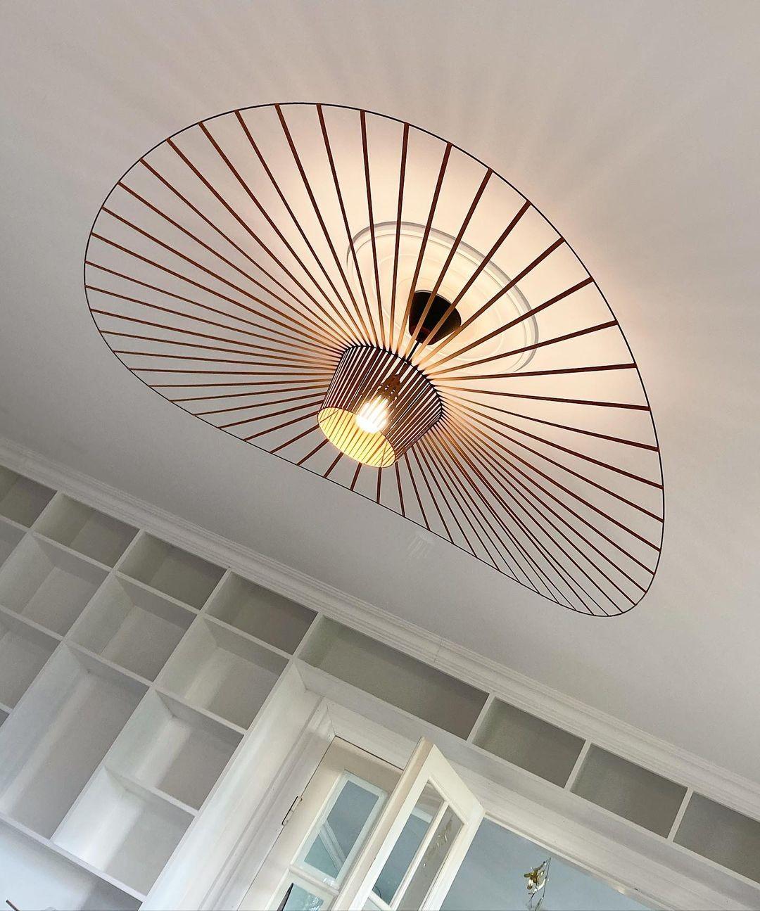 Modern LED Straw Hat Pendant Lights Black Coffe E27 Luminaire Suspension for Living room Parlor Foyer Lustres Lampadario Bedroom