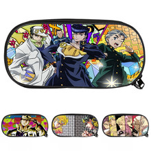Cartoon JOJO'S BIZARRE ADVENTURE Anime Kujo Jotaro Pencil Case Student Study Pencil Bags Supplies Stationery Holder Pouch Gifts(China)
