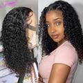 4X4 Короткие парик Кудрявые Волнистые человеческие челосы, Синтетические волосы на кружеве парик 150% плотность для детей от 8 до 16 дюймов локо...