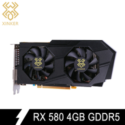 Для Radeon RX 580 видео игровая графика карта GPU 4G GDDR5 256bit PCI Express 3,0 Настольный 2048SP видеокарта добавить на HDMI б/у