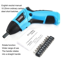 Electric Screwdriver 3.6V Cordless Drill Electric Screwdriver Drill Power Tools With 10 Drill Heads Hand Drill Tools Set|Electric Screwdrivers| |  -