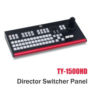 TY-1500HD Director Video Switcher Panel Recording Video Switcher for New Media Live Youtube Ins TV Broadcasts