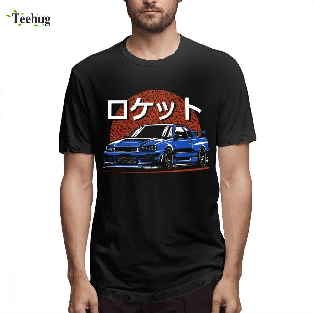 Anime Rocket Skyline R34 GTR Tee For Male Novelty Unique Design Man 100% Cotton Camiseta