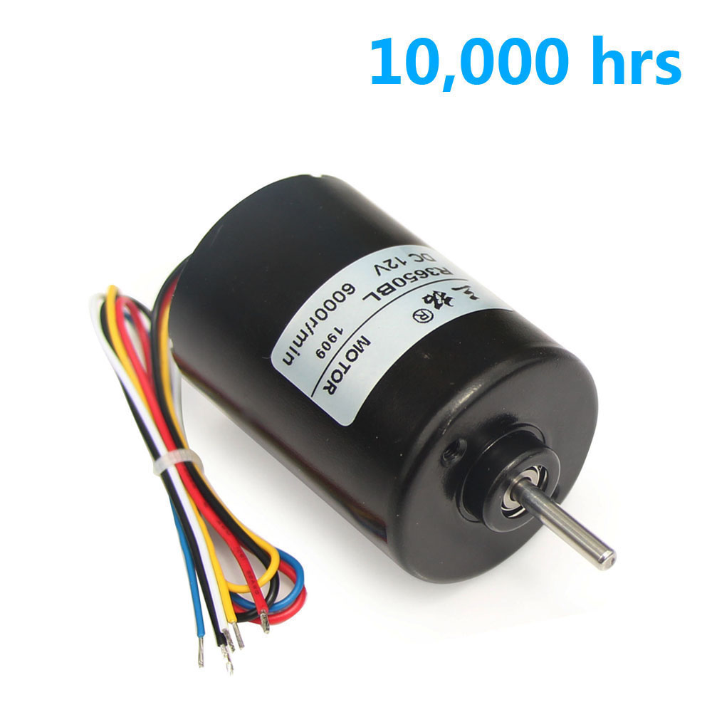 R3650BL <font><b>12V</b></font> 24V <font><b>6000rpm</b></font> High speed Brushless <font><b>DC</b></font> <font><b>Motor</b></font> Reversible Variable Hall Encoder Sensor for Electric Toys Ship Model Pump image
