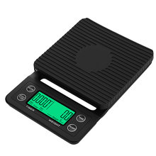 3kg/0.1g 5kg/0.1g Coffee Scale Baking Table LCD Display High Electronic With Timer Non-Slip Mini Drip Battery Powered(China)
