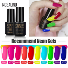 ROSALIND Neon Gel Nail Polish Color Set All For Manicure