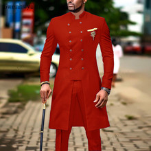 Red Suit Tuxedo Jacket Wedding-Suits Groom Gwenhwyfar Indian Pants Man Blazer Slim