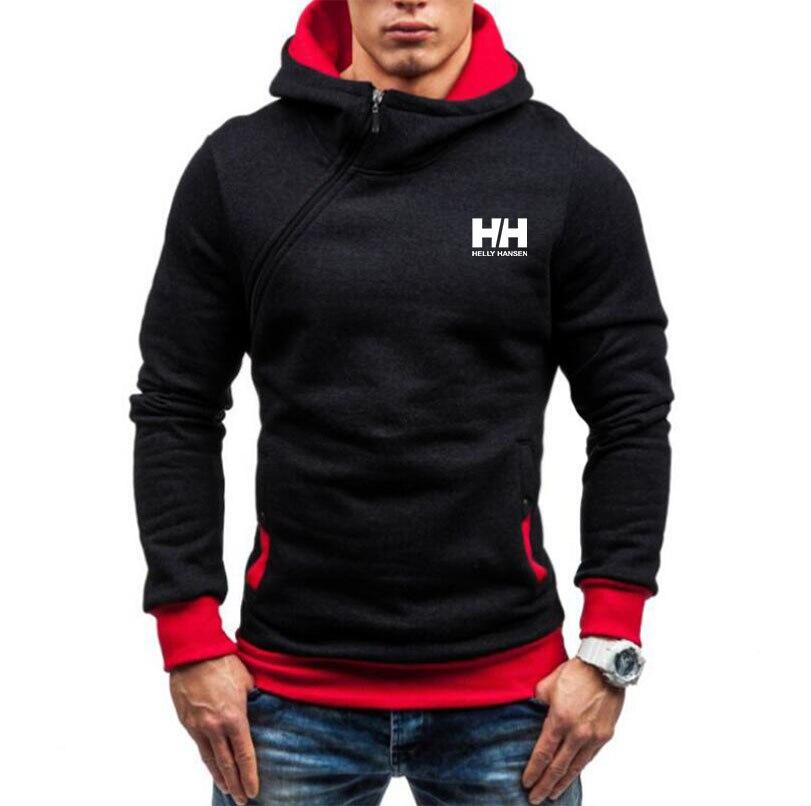 2020 New Fashion Hoody Jacket HH Printed Men Hoodies Sweatshirts Casual Hooded Diagonal zipper Coat Plus Fleece Brand Clothing