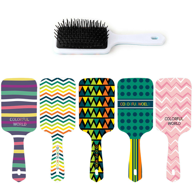 1PC Color Pattern Comb Professional Healthy Paddle Cushion Hair Loss Massage Brush Hairbrush Comb Scalp Hair Care Healthy Comb