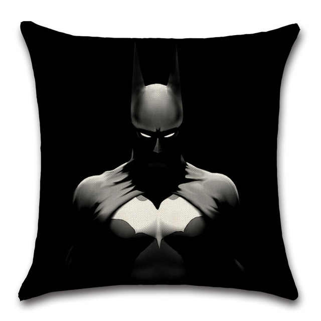 Movie Comics Batman Logo Mark ozdobna poszewka na poduszkę dekoracja dla rodziny dzieci chłopcy sypialnia prezenty prezenty dla przyjaciół wygodne miękkie ..