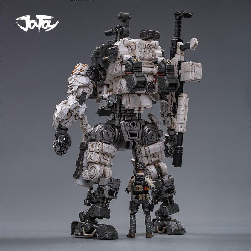 JOYTOY 1/25 figurine robot militaire acier os armure gris méca Collection modèle jouets cadeau de noël livraison gratuite - 2