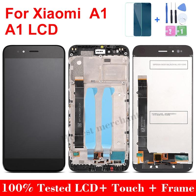 ЖК-дисплей с рамкой для Xiaomi A1, 10 точек касания, качество ААА, 5,5 дюйма