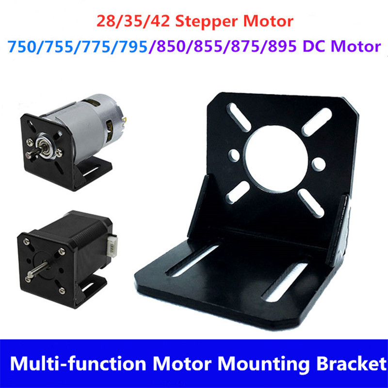 NEMA 17 Mounting L Bracket 28/35/42 Stepper Motor Steel Bracket Motor Mounts Stand 750 755 775 795 895 8Sseries DC Motor Bracket
