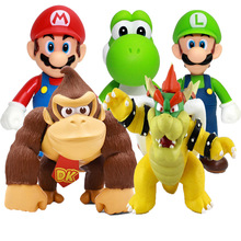 Super Mario Bros PVC Action Figure Model Toy DONKEY KONG Koopa Bowser Luigi Mario Yoshi Figure Toys Gift For Children Kids цена 2017