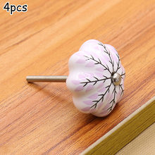 Ceramic Door Knobs Singles - Door Cupboard Kitchen Cabinet Drawer Handles Pulls For Modern And Vintage Furniture(China)
