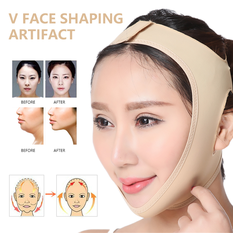 Double Chin Face Slimmer V Shape Mask Slim Lift Up Anti Wrinkle Mask Strap Band V Face Line Belt Women Face Slimming Mask
