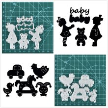 Eastshape Baby Toys Metal Cutting Dies New Born Girl Boy for Craft Die Scrapbooking Embossing Stencil DIY Die Cut Decoration(China)