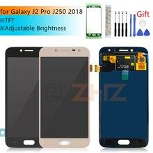 TFT لسامسونج غالاكسي j2 برو lcd J250f 2018 J250m مجموعة المحولات الرقمية لشاشة تعمل بلمس تعديل سطوع j250 عرض إصلاح أجزاء