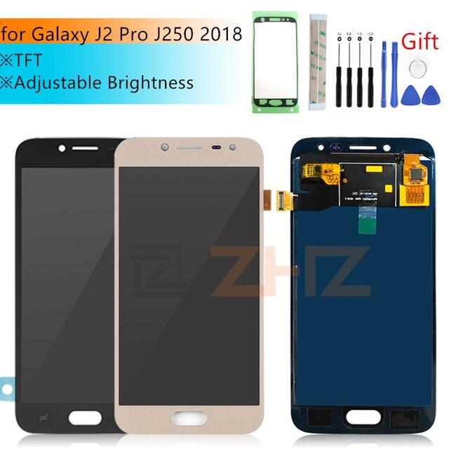 TFT для samsung Galaxy j2 pro lcd J250f 2018 J250m кодирующий преобразователь сенсорного экрана в сборе настраиваемая яркость j250 дисплей запасные части