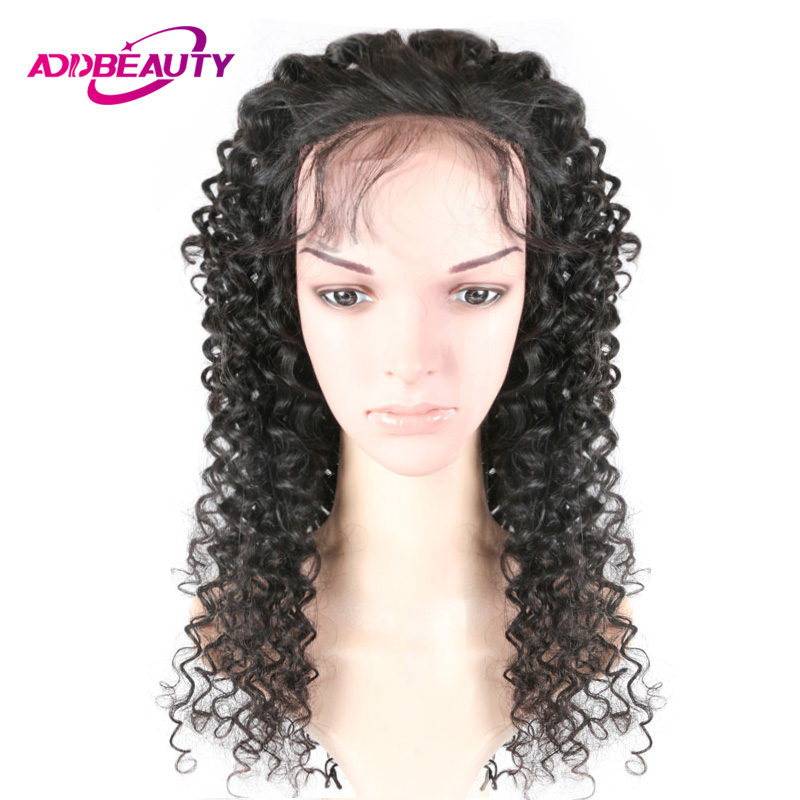 Addbeauty 4x4 Lace Closure Wig For Black Women Brazilian Remy Human Hair Deep Wave 180% Density DIY Customized Pre-Plucked