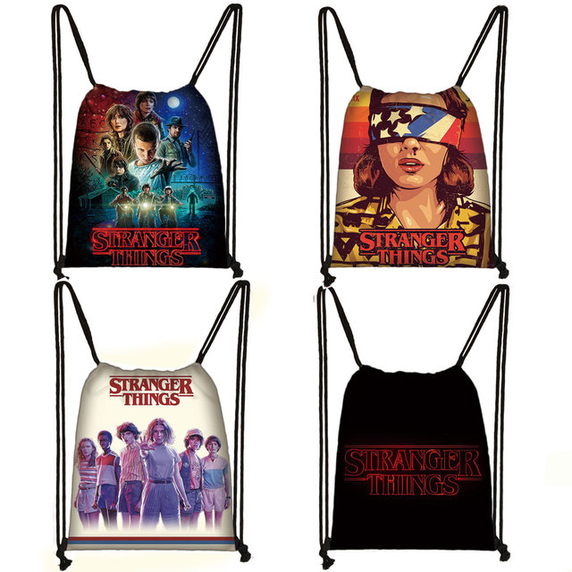 Cartoon Stranger Things Backpack Teenager Boys Girls Travel Bag Children School Bags Book Bag Women Fashion Drawstring Bags