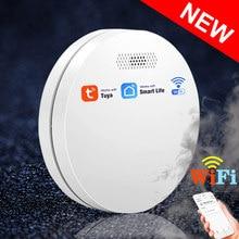 NEW Ultra-thin Tuya WiFi Smoke Detector Fire Alarm Protection Equipment With CE Approval Smartlife Smokehouse Smoke Alarm Sensor