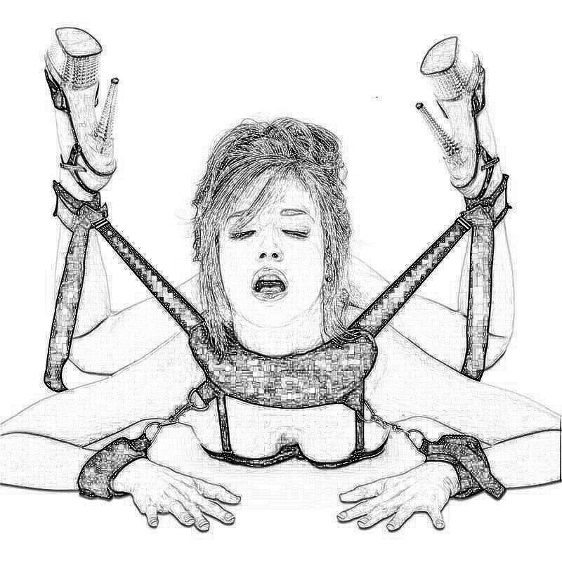 Erotic Accessories BDSM Sex Bondage Restraints Slave Handcuffs&Neck &Ankle Cuff Flirting Sex Toys For Woman Couples Sex Products