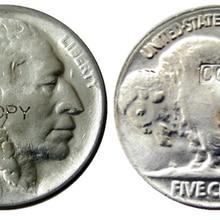 US 1921 с гравировкой в виде американского бизона из никеля пять центов копия монеты