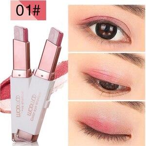 Double Color Eyeshadow Bar Stereo Classic 2-color Gradient Shimmer Eye Shadow Cream Pen Eye Makeup Beginner Cosmetics TSLM1