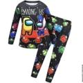 Домашний костюм для мальчиков «Игра среди нас», нижнее белье, мультяшная одежда, брюки с длинными рукавами, детская одежда для сна, хлопкова...