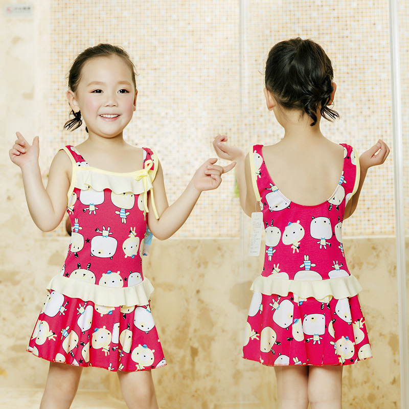 KID'S Swimwear GIRL'S Girls Baby Big Boy Small CHILDREN'S One-piece Princess Dress-South Korea Student Kids Swimwear