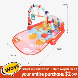 Image 2 - Baby Play Mat GYM Baby Toys Educational 0 12 Months Activity Playmat Musical Piano Infant Baby Learning Toys Newborn Carpet