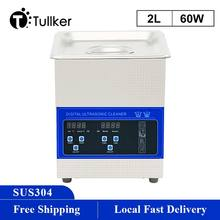 2L Portable Ultrasonic Cleaner Machine screw nut Oil Dust Degreaser Glassware Hardware Sonic Washer Set Degas Sweep Frequency
