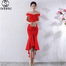 Женское однотонное платье skyyue с коротким рукавом и вырезом