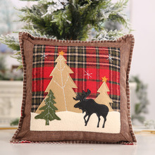 39*39cm Plaid Pillow Cover Cushion Case Toss Pillowcase Hidden Zipper Closure Pillows Christmas Style Pattern Pillow Case hidden christmas