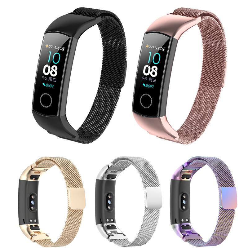 For Huawei Honor Band 4 5 Wrist Straps Magnetic Buckle Bracelet Smart Accessories Milanese Loop For Honor Band 4 5 Watch Band