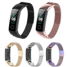For Huawei Honor band 4 5 wrist straps Magnetic buckle Bracelet Smart accessories Milanese loop Band watch